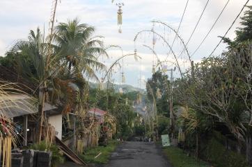 Chemin dans la région de Sidermen - Bali