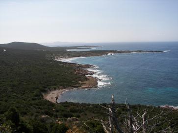 Le littoral au Sud de la Corse