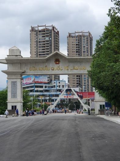 la porte frontalière Sino-Vietnamienne