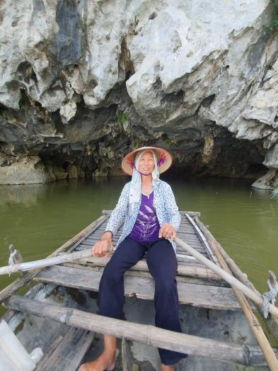 Notre rameuse dans la Réserve Naturelle de Van Long