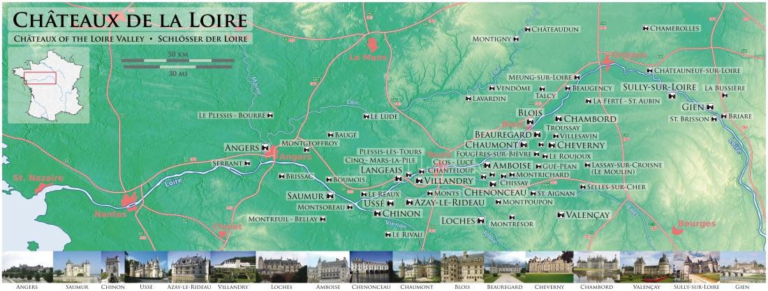 Châteaux_de_la_Loire_-_Karte